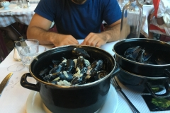Mussels in Nice, France