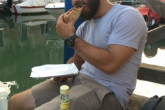 Pizza and Limoncello in Venice, Italy
